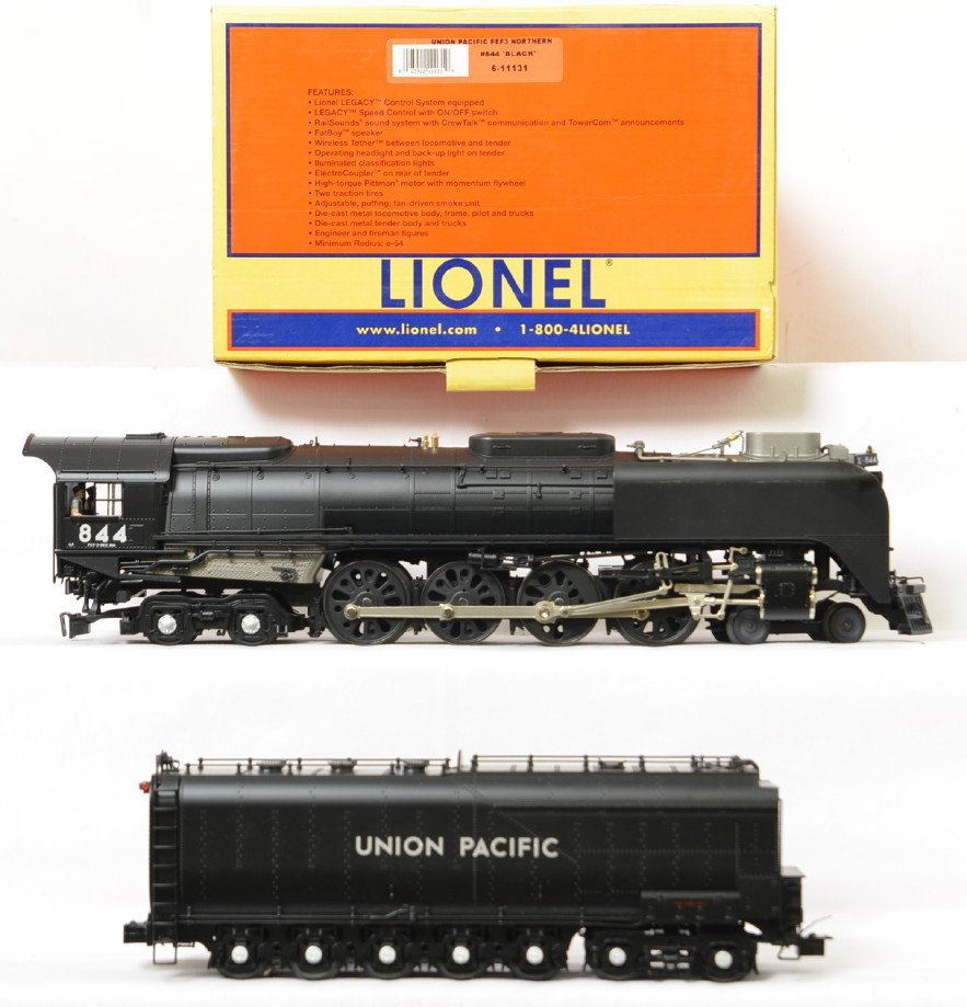 Lionel Union Pacific #844 Black 11131 with Legacy - 2