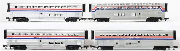 4 Railking Amtrak Superliner passenger cars