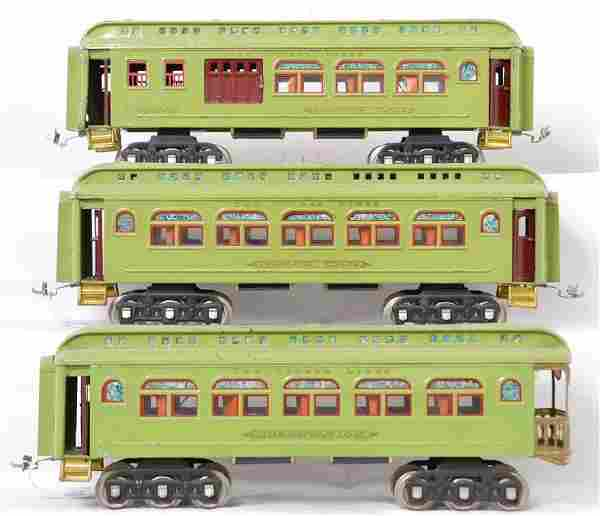 Lionel Prewar Standard Gauge 418 419 490 passenger cars