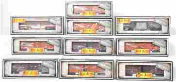 10 Railking die cast cars Western Pacific