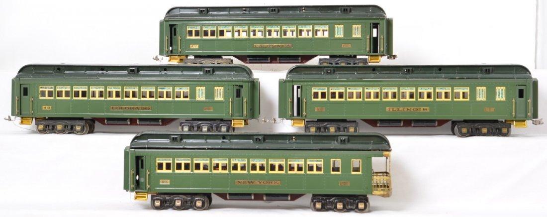 Lionel prewar standard gauge green state set
