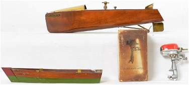 Small group of Vintage boat related toys