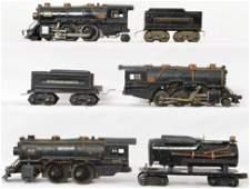 American Flyer prewar steam locomotives and tenders