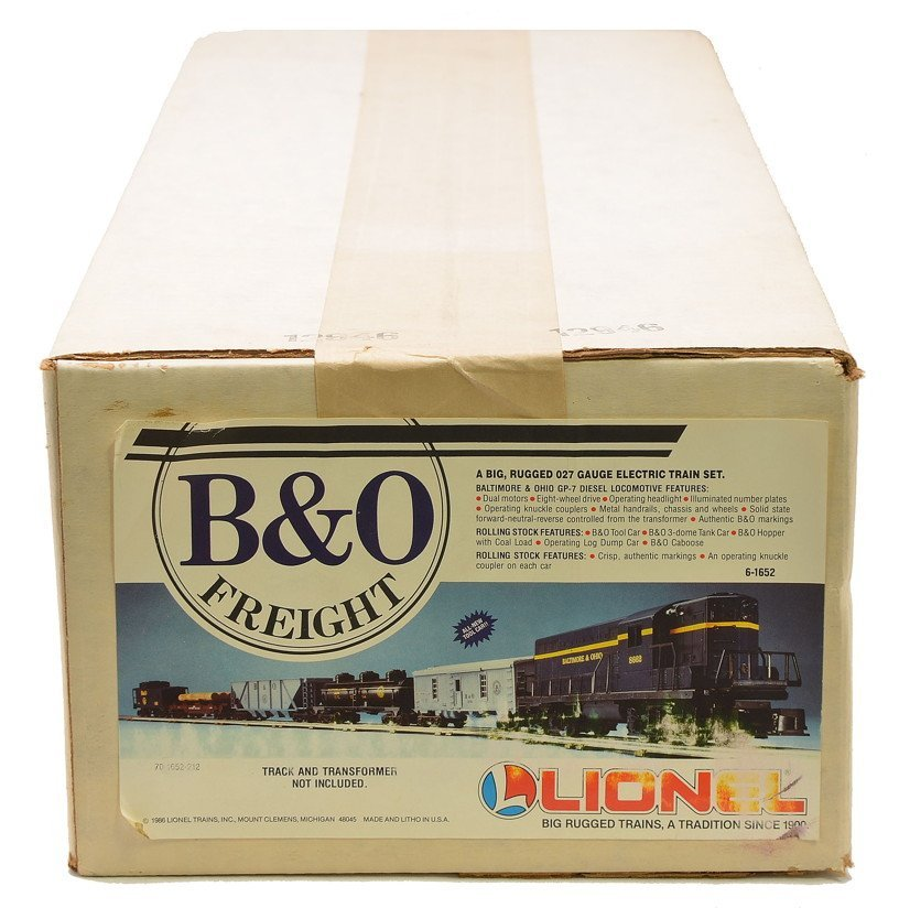 Lionel 1652 B&O Freight Set Factory Sealed Boxed