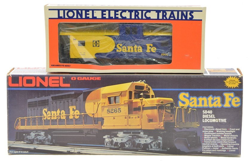 Lionel 8265 SF SD40 Diesel 6903 Caboose MINT OBs