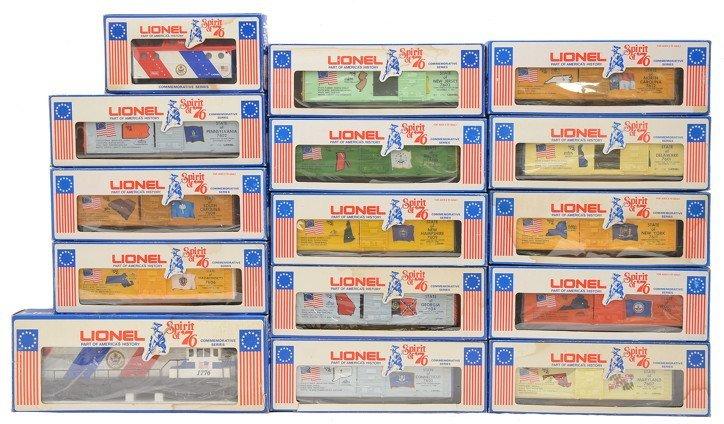 Lionel Spirit of 76 Set 1776 7600-7613 MINT OBs