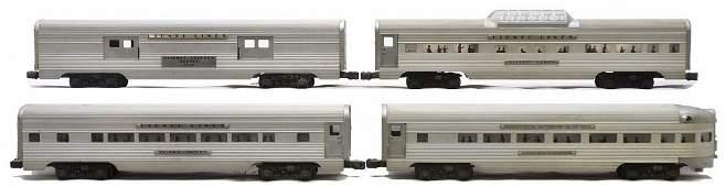 Lionel Aluminum Pass Cars 2530 2534 2532 2531