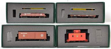 4 ON30 Bachmann Spectrum Great Northern freight cars