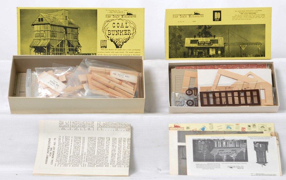 Fine Scale Miniatures Car Repair and Coal Bunker kits