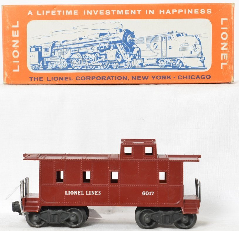 Lionel Postwar O gauge 6017 painted glossy caboose in