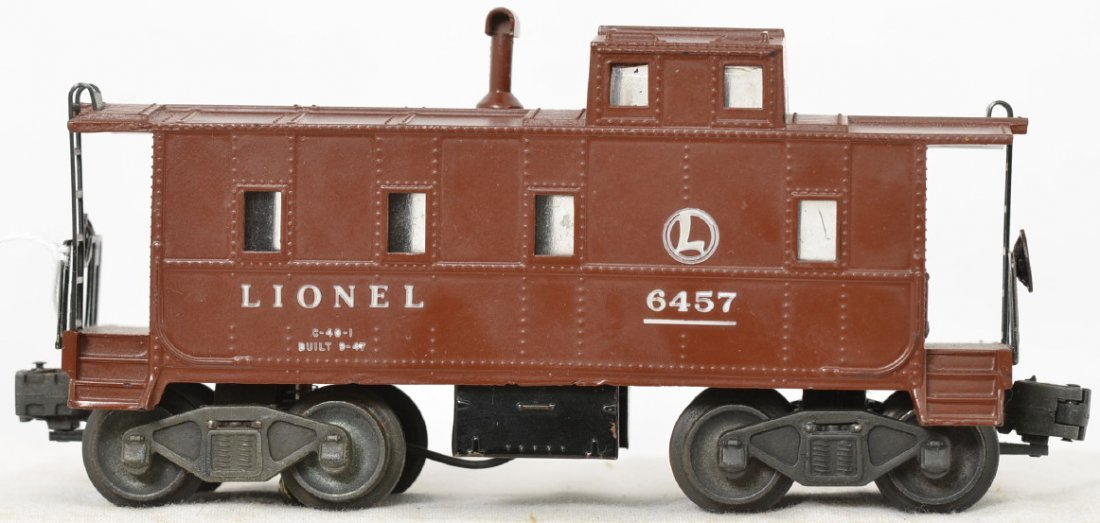 Lionel Postwar O gauge 6457 caboose with matching stack