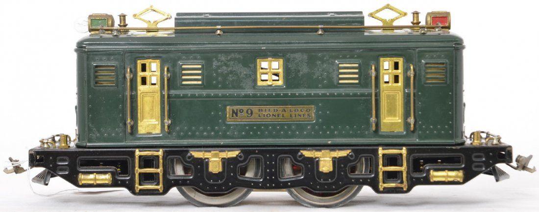 Lionel prewar standard gauge 9 Bild A Loco green