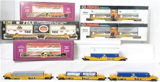 9 intermodal cars K Line Lionel MTH