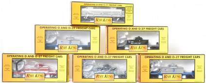 6 Railking operating helicopter and dump cars