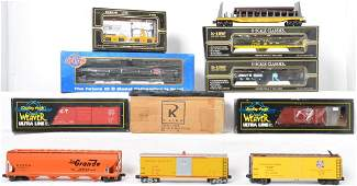 11 K Line, Atlas and Weaver cars UP, WM, Railgon, etc
