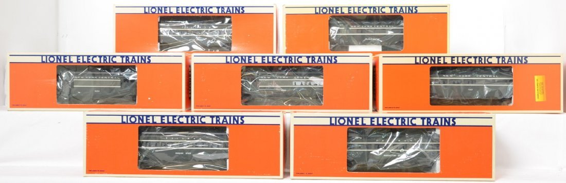 7 Lionel NYC 9594 - 9598 7207 19137 pass cars