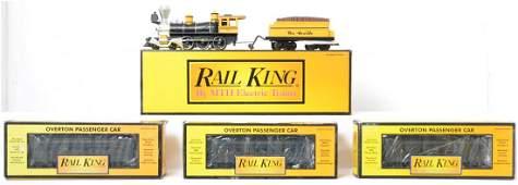 Railking Rio Grande 460 and three passenger cars
