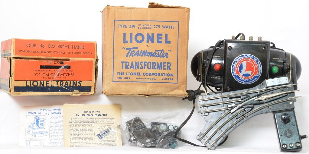 Lionel 275 Watt ZW and 022 switches