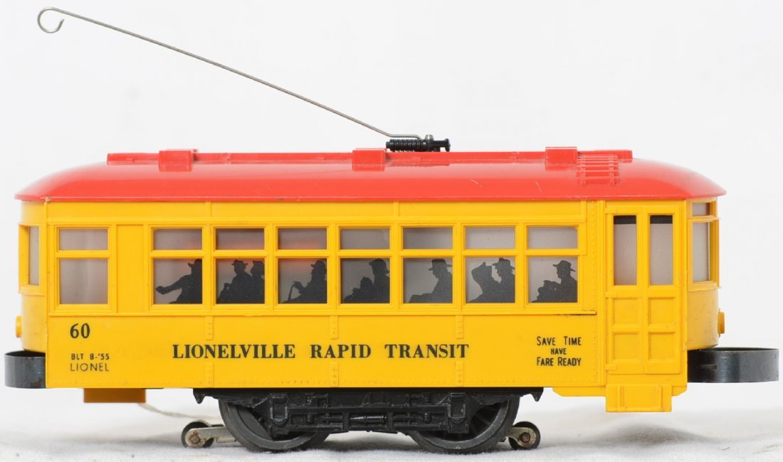 Lionel Postwar O gauge 60 trolley black lettering