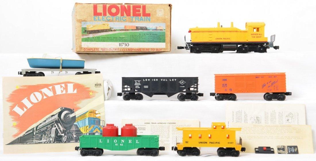 Lionel Postwar O27 gauge 11730 Union Pacific freight