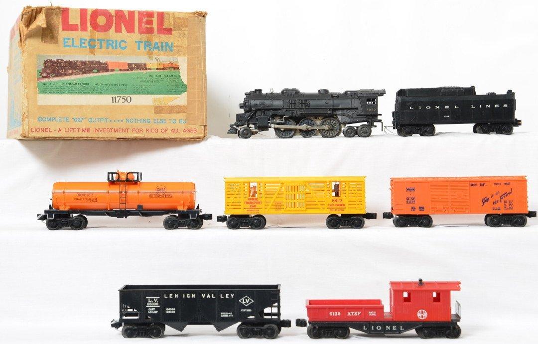 Lionel Postwar O27 gauge 11750 steam freight set in OB