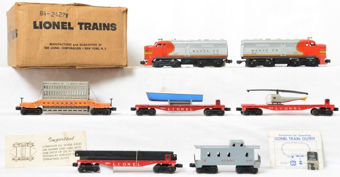 Lionel Postwar O gauge 1619W diesel freight set in OBs