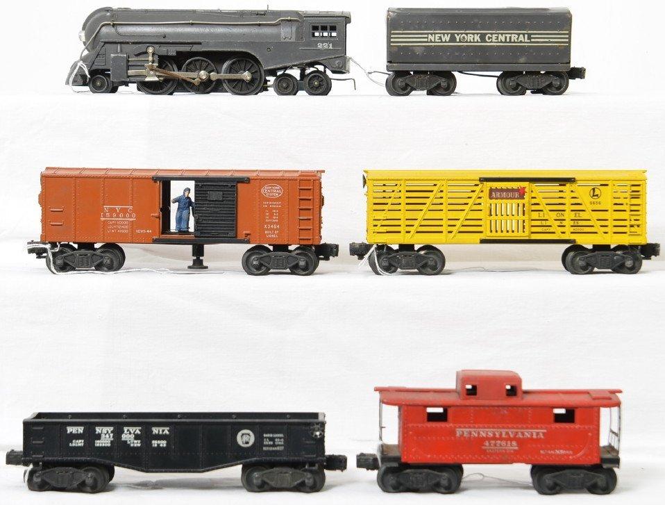 Lionel Postwar O 221 New York Central Dreyfuss freight