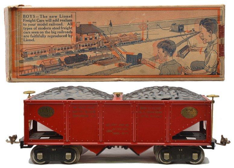 Lionel 516 Red Hopper w/Capacity Data Stamp OB