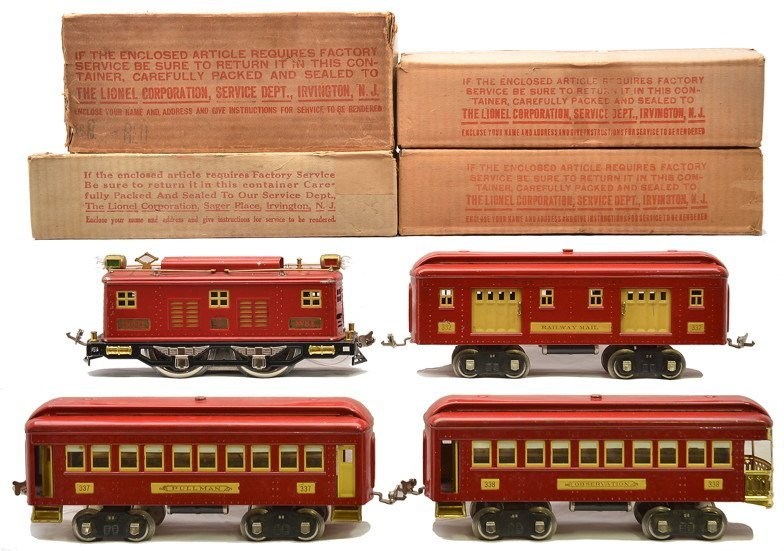 Lionel Std. Ga. Red Pass Set no. 360E Boxed