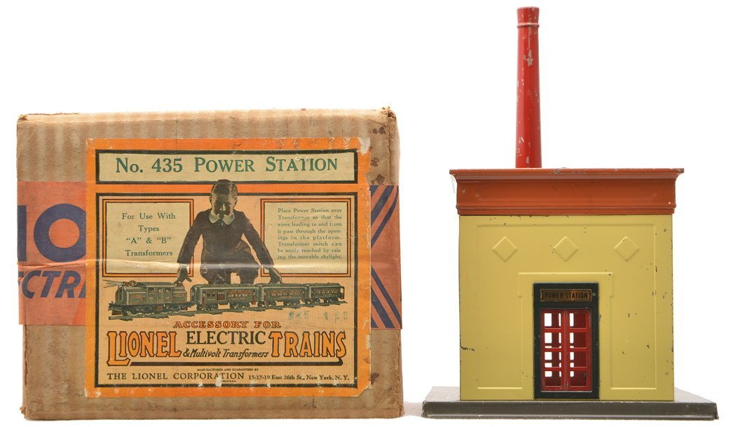 Lionel 435 Power Station w/Cream Walls Boxed