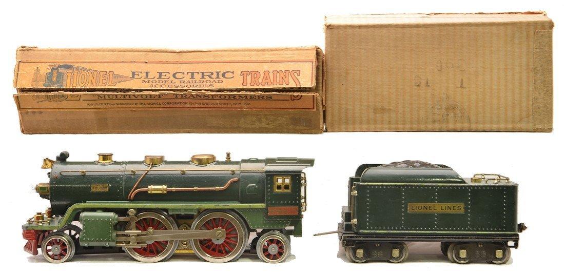 Lionel 390E Two Tone Green Loco w Green Stripe