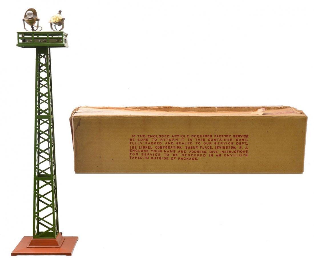 Lionel 92 P.Gr. Floodlight Tower T.Cotta Base OB