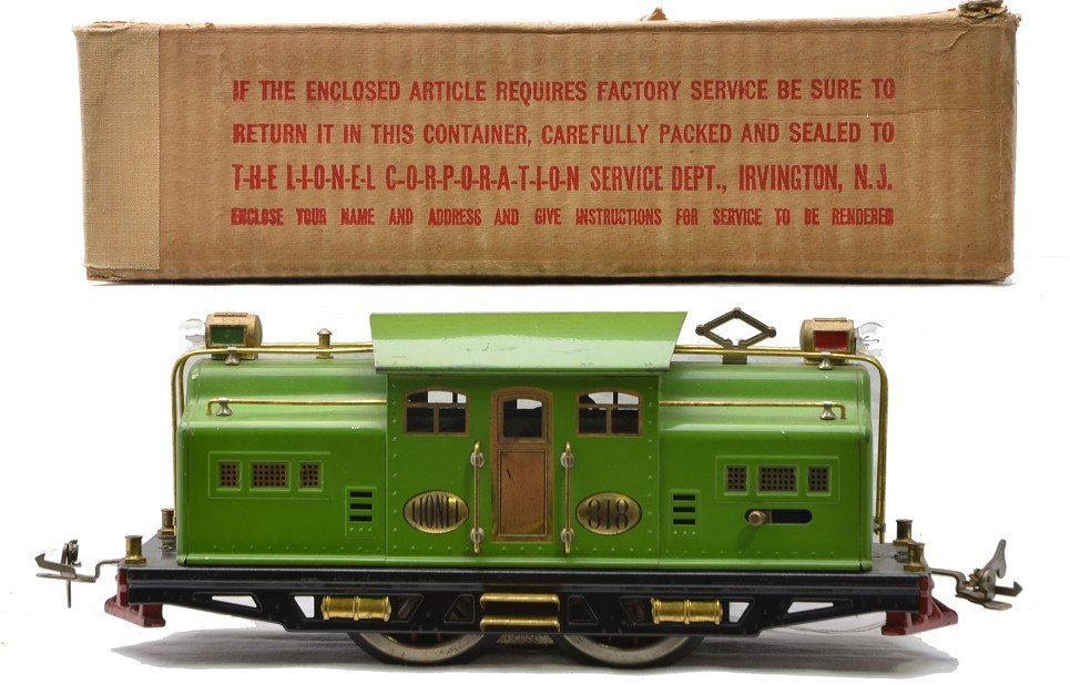 Lionel Std. Ga. 318 Pea Green Electric Loco Boxed