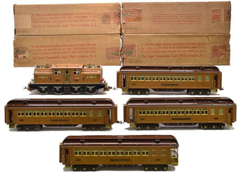 Lionel Transcontinental Limited State Set 411E
