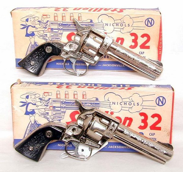 2: Two Nichols Stallion 32 six shooters, OB's