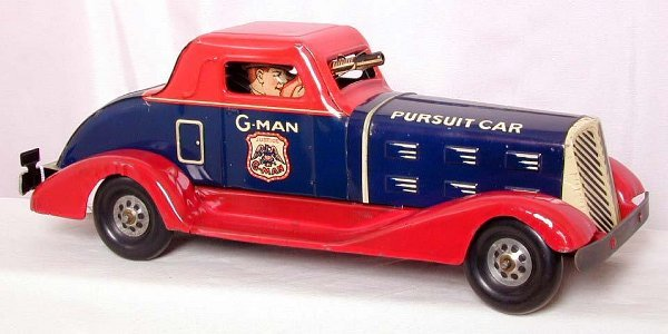 20: Nice Marx G-Man Pursuit car