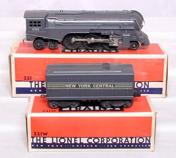 439: Mint Lionel 221 NYC steam in OB's