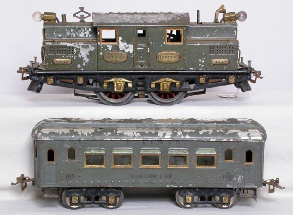 119: Ives 3242 wide gauge loco with 184, 185, 186