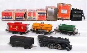 153: Nice Lionel prewar set 204, 809, 804 and 807 OB