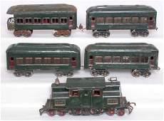 241: Lionel prewar set 156 2-B-2 cars 610 610 610 612