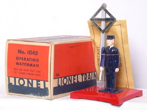 700: Mint Lionel 1045 operating watchman in OB