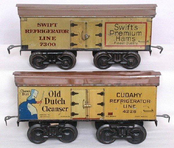 713: Bing Old Dutch Cleanser and Swifts boxcars
