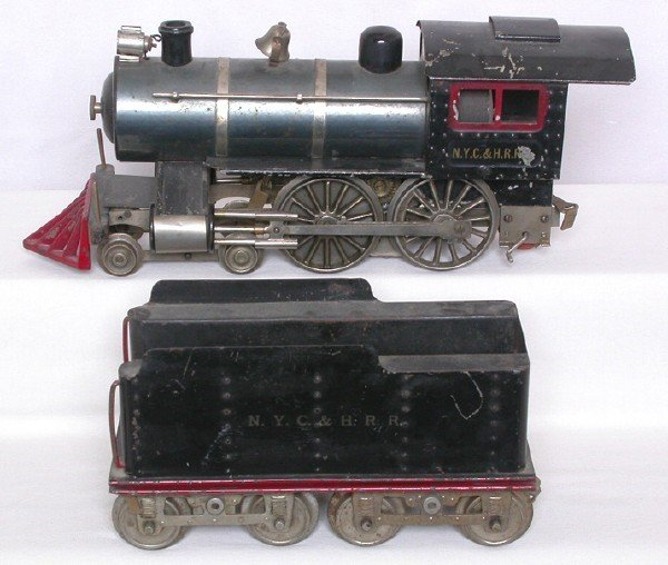 719: Lionel std gauge prewar No 6 thin rim loco set