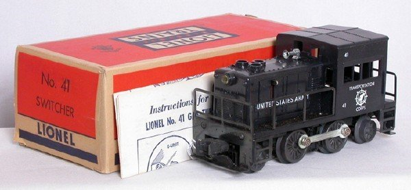 722: Mint Lionel 41 US Army switcher in OB