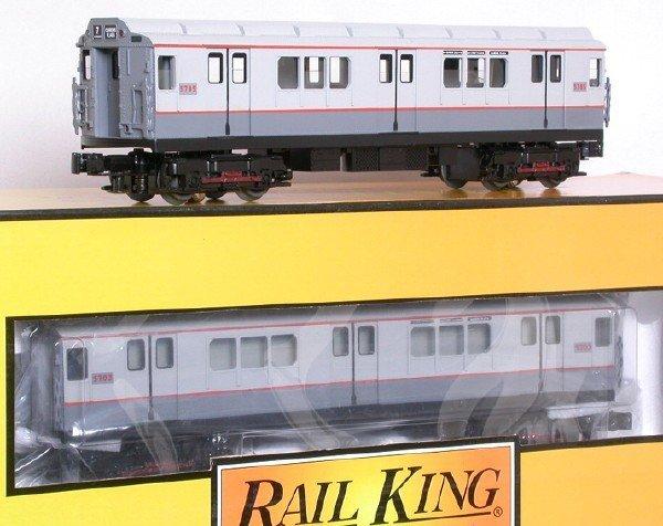 3: MTH 30-2373-0 MTA gray R-12 4-car subway set