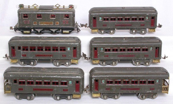 12: Lionel prewar O gray 251E 605 605 605 606 606 set