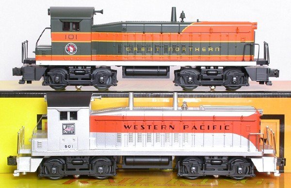21: MTH 2177 Great Northern SW8 2148 Western Pacific