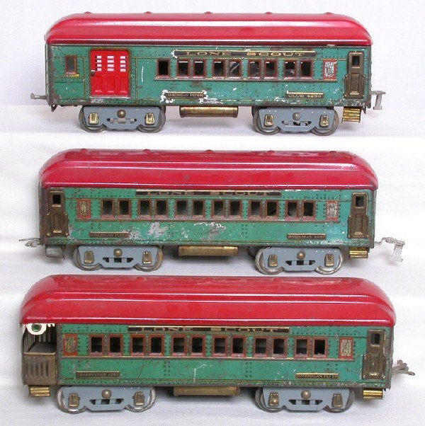 24: American Flyer WG Lone Scout cars 4250 4251 4252