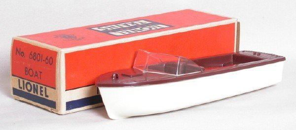 607: Mint Lionel 6801-60 separate sale boat in OB