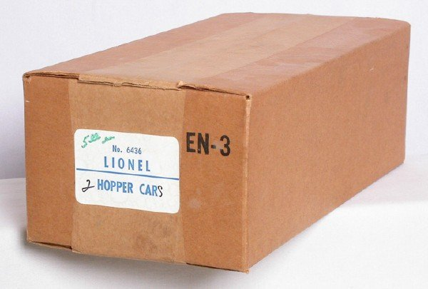 617: Sealed master carton of two Lionel 6436 hoppers